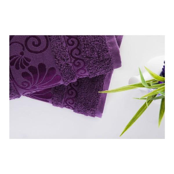 Zestaw 2 ręczników Carmen Purple, 50x90 cm