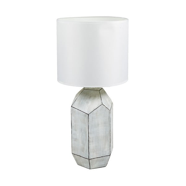 Biała lampa stołowa Santiago Pons Gara