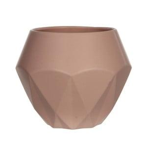Różowa doniczka ceramiczna Mica Gem, 20,5x24,5cm