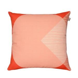 Pomarańczowa poduszka z dwustronnym nadrukiem Orla Kiely OK Cushion, 45x45 cm