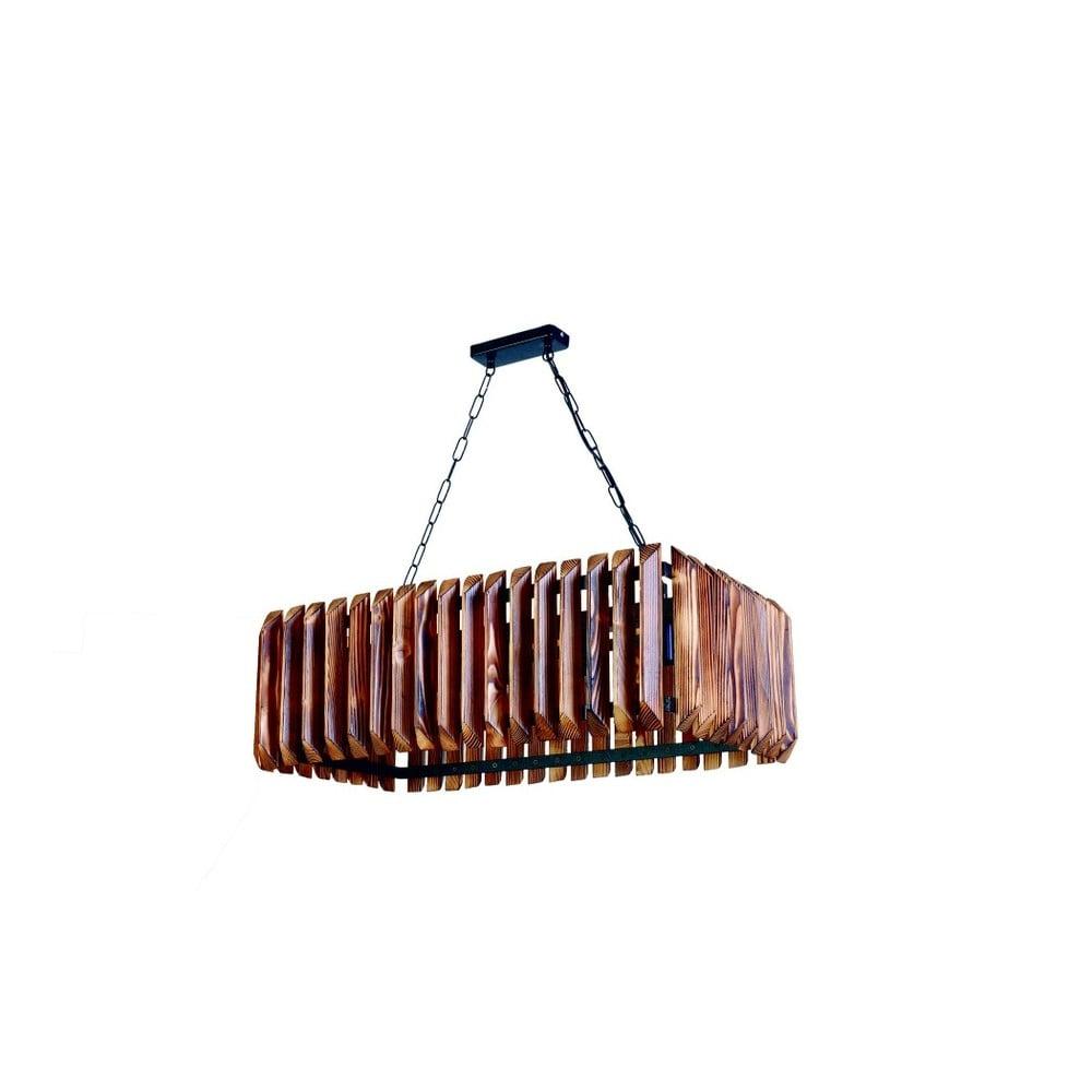 Lampa wisząca z drewna grabu Siesta 5li