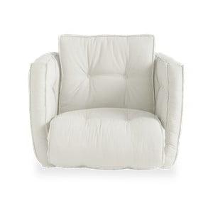 Rozkładany fotel z jasnobeżowym obiciem Karup Design Dice Natural