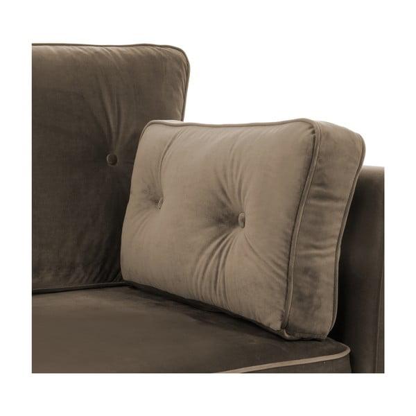 Brązowa sofa dwuosobowa VIVONITA Portobello
