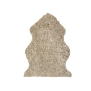 Jasnobrązowy, wełniany dywan z owczej skóry Auskin Faol, 90x60 cm