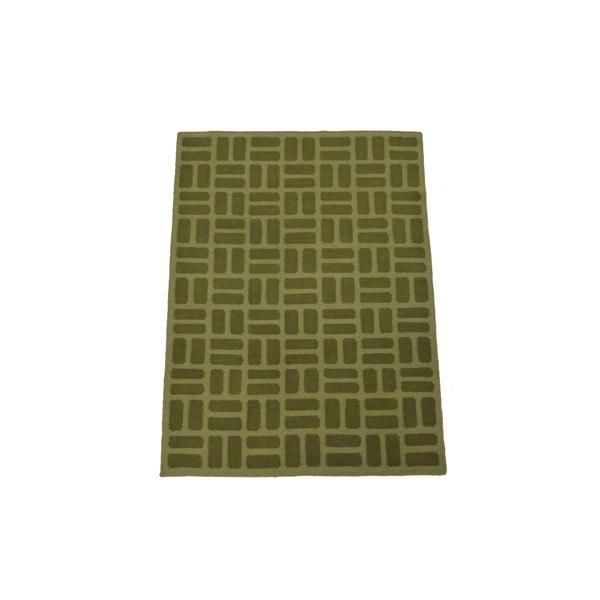 Ręcznie tkany dywan Green Kilim, 120x180 cm