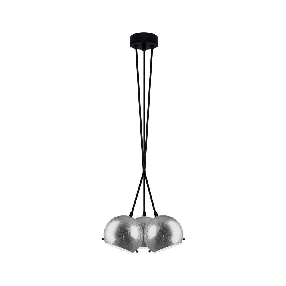 Czarno-srebrna potrójna lampa wisząca Sotto Luce MYOO Elementary 3BS
