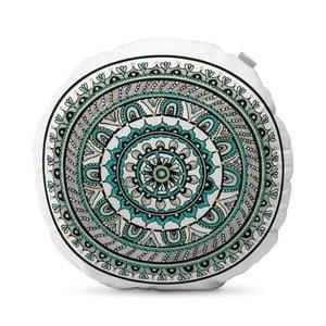 Turkusowa poduszka HF Living Mandala, ⌀50cm