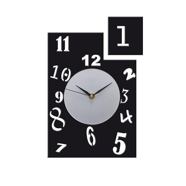 Zegar Horloge, czarny