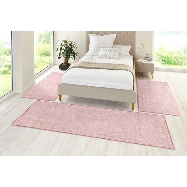 Różowy dywan Hanse Home Pure, 80x150 cm