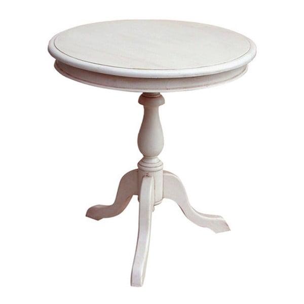 Okrągły drewniany stół Vintage, 60x65x60 cm