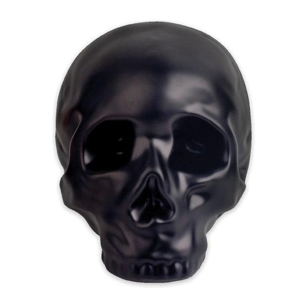 Czarna ceramiczna skarbonka Kikkerland Coin Skull