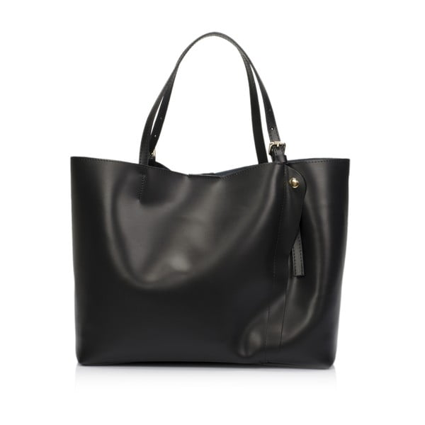 Czarna torebka skórzana Lisa Minardi Eunice