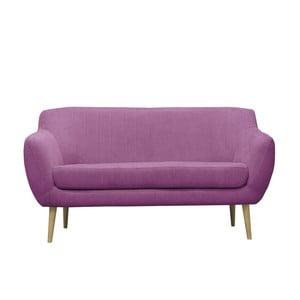 Fioletowa sofa trzyosobowa Mazzini Sofas Sardaigne