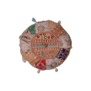 Ręcznie wyszywany puf Mano, 40 cm