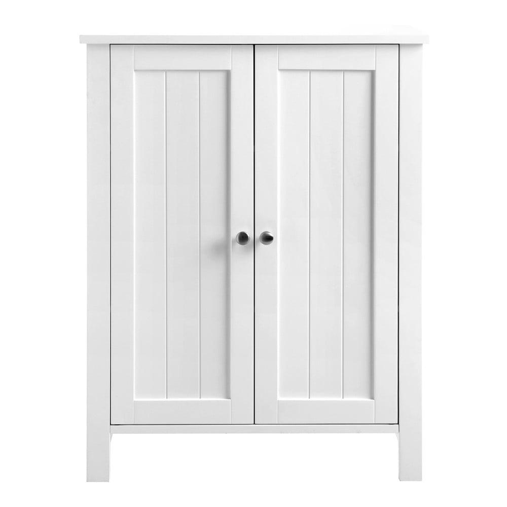 Biała szafka łazienkowa z drzwiczkami Songmics, szer. 60 cm