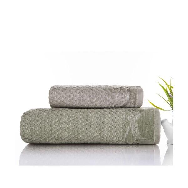 Zestaw 2 ręczników Acustic Water Green, 50x90 cm i 70x140 cm