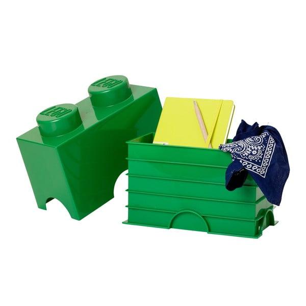 Zielony średni pojemnik LEGO®
