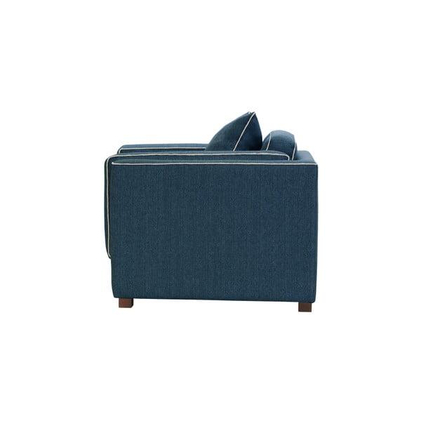 Niebieski fotel z kremowym wykończeniem Rodier Organdi