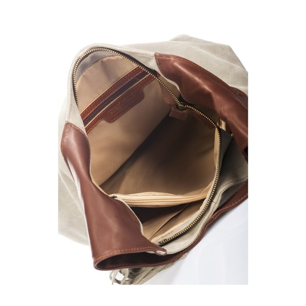 Skórzana torebka Maya, taupe