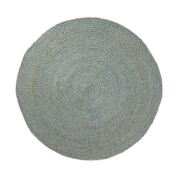 Jutowy dywan Dip Ø 100 cm, niebieski