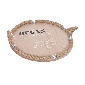Taca drewniana Ocean, naturalna
