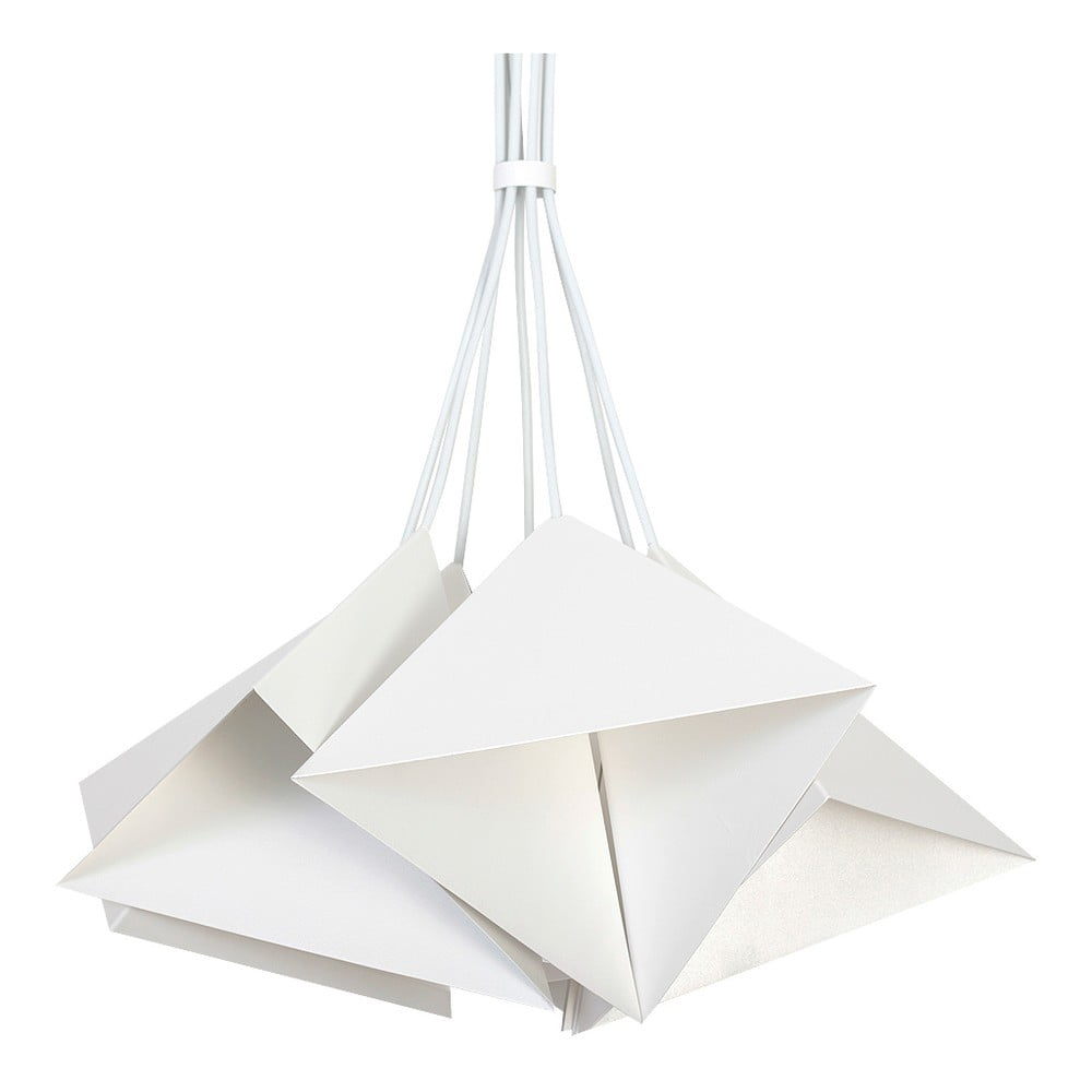 Biała lampa wisząca Evergreen Lights Suspension Lamp Set