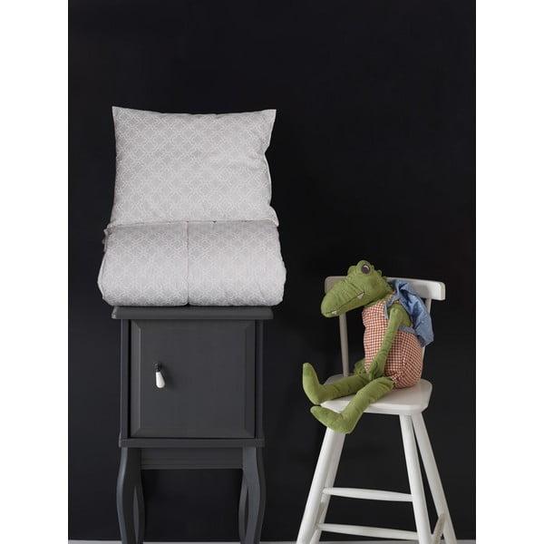Komplet poduszki i koca Baby Grey, 95x145 cm