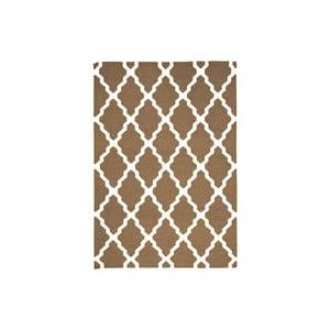 Ręcznie tkany dywan Kilim Design Four Brown, 160x230 cm