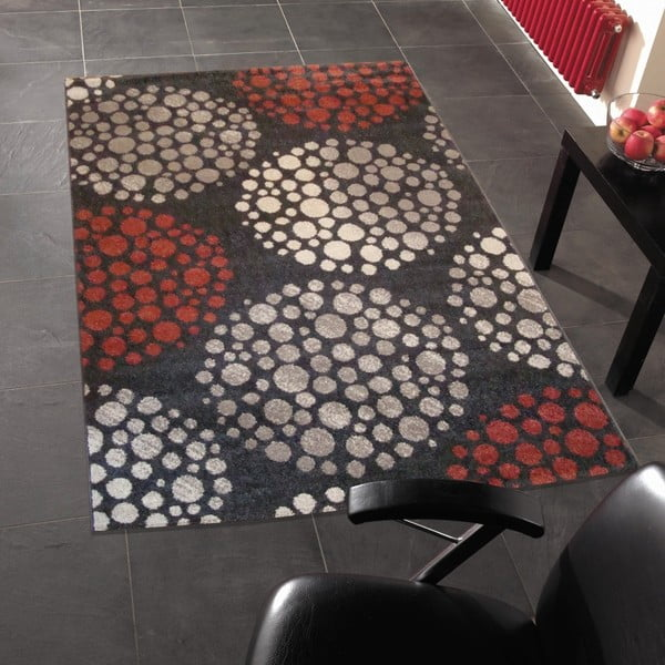 Dywan Flair Rugs Bulles Red, 133x190 cm