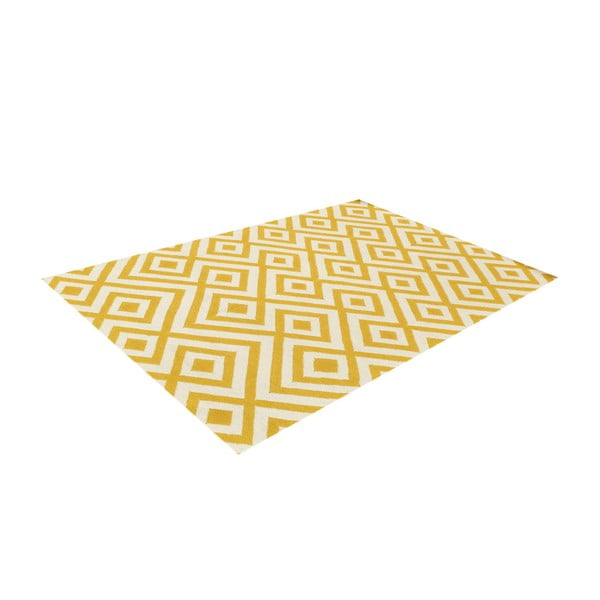 Dywan wełniany Luisa Yellow, 200x140 cm