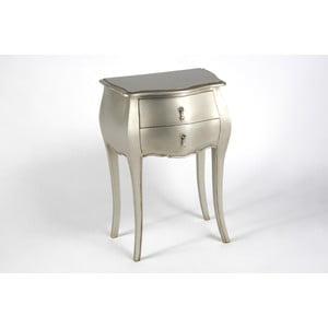 Stolik z dwoma szufladami Muran Silver
