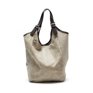 Skórzana torebka Clasa, beżowa