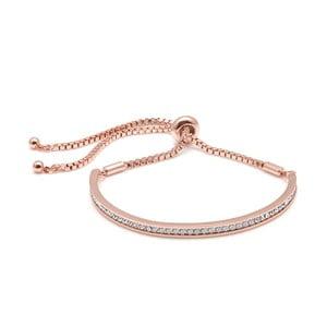 Różowa pozłacana bransoletka z kryształami Swarovski GemSeller Lycium