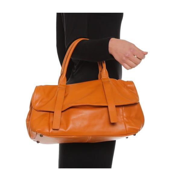 Skórzana torebka Anna Luchini 2043 Cognac