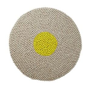 Wełniany dywan Wool Mat Round Lime, 90x90 cm