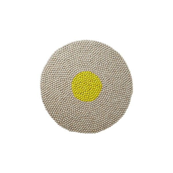 Wełniany dywan Wool Mat Round Lime, 90x90 cm