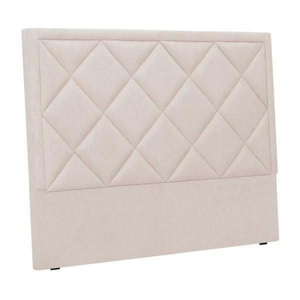 Kremowy zagłówek łóżka Windsor & Co Sofas Superb, 160x120 cm