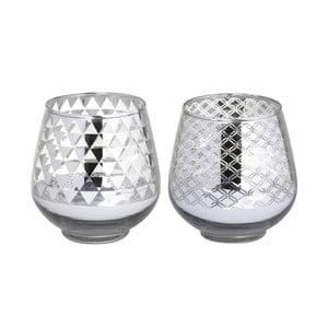 Zestaw 2 świeczników Allure Glass