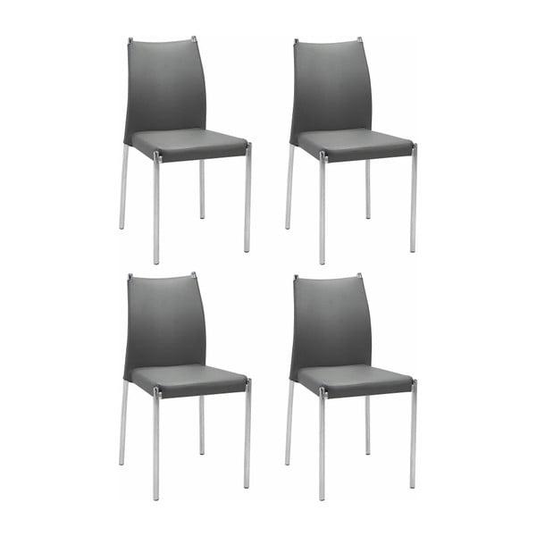 Zestaw 4 szarych krzeseł Støraa Zulu