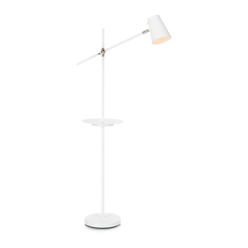 Biała lampa stojąca z półką Markslöjd Linear