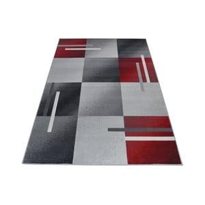 Czerwono-szary dywan Webtappeti Modern, 140x200cm