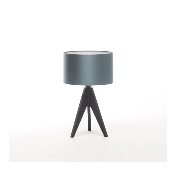 Niebieska lampa stołowa Artist, czarna lakierowana brzoza, Ø 25 cm