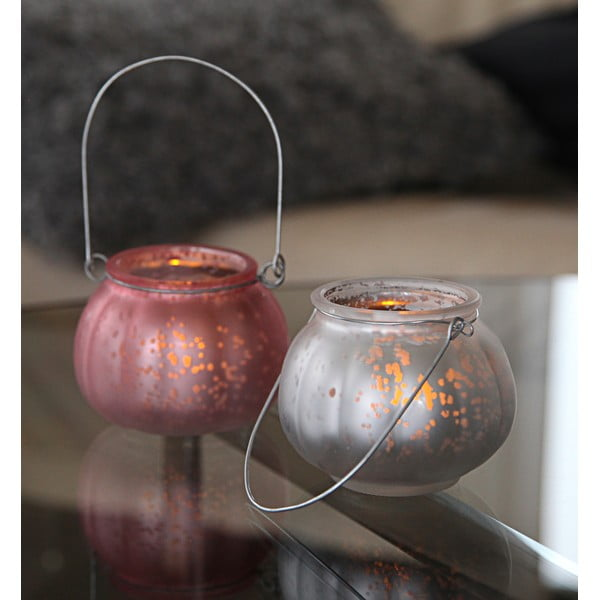 Srebrny lampion LED Best Season Fragile