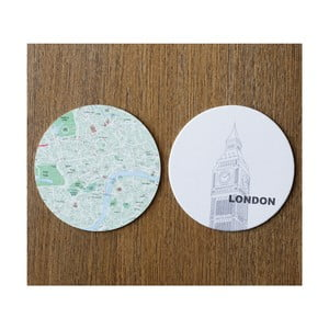 Komplet 10 podstawek Design Ideas MapCoasters London