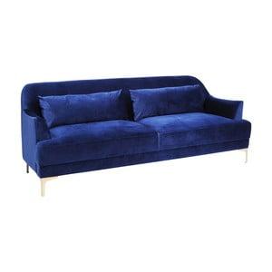 Granatowa sofa trzysobowa Kare Design Proud