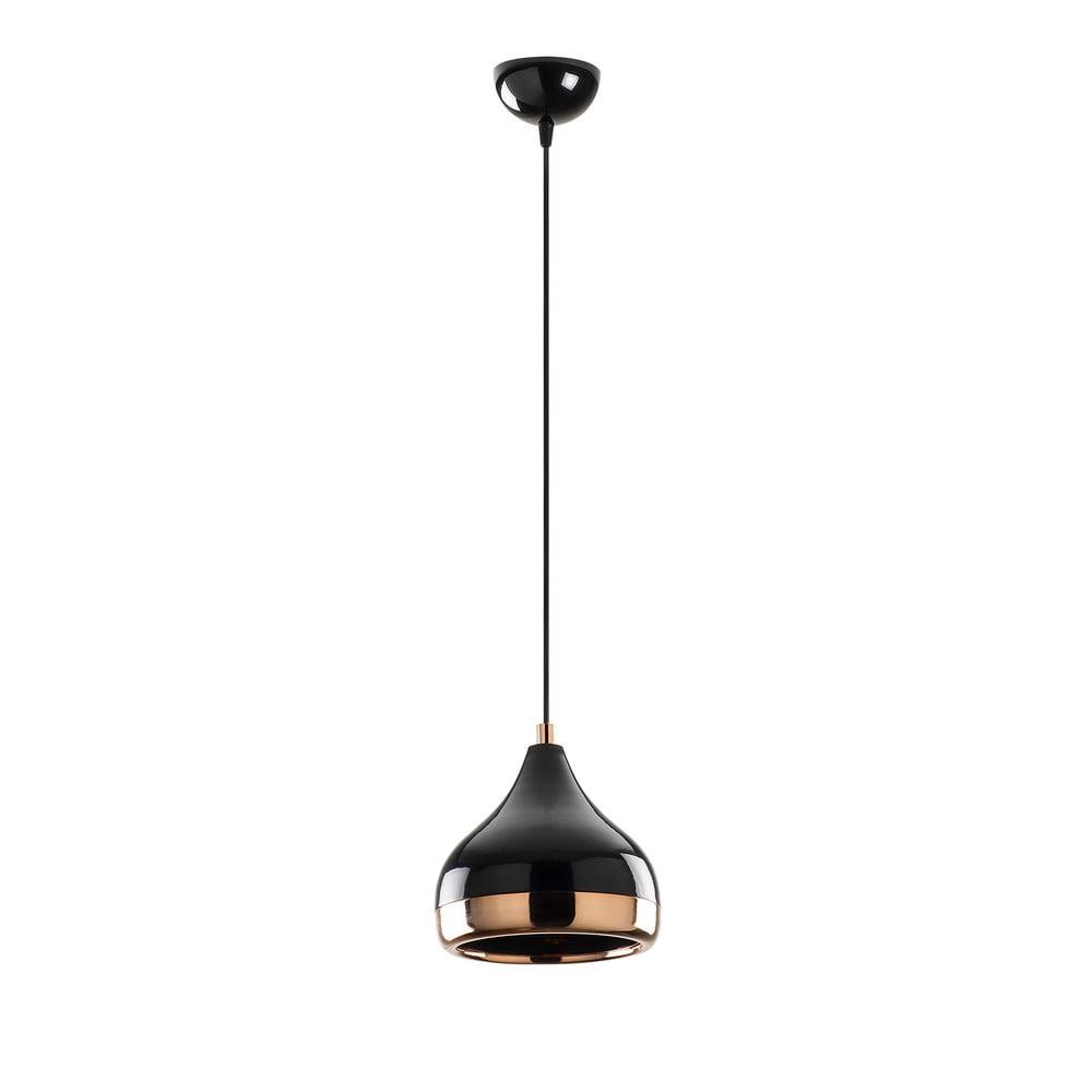 Czarna lampa wisząca z elementami w kolorze miedzi Opviq lights Yildo, ø 17 cm