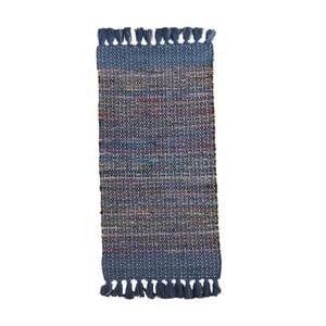 Modrý vzorovaný koberec Geese Ceylon, 120x 60 cm