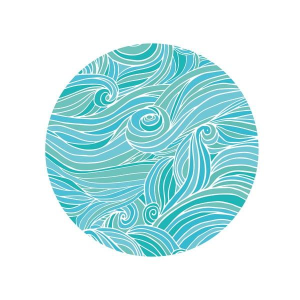 Zestaw 2 stolików Sea Waves, 35 cm + 49 cm