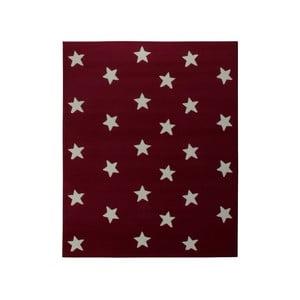Dywan City & Mix - czerwony w gwiazdy, 140x200 cm