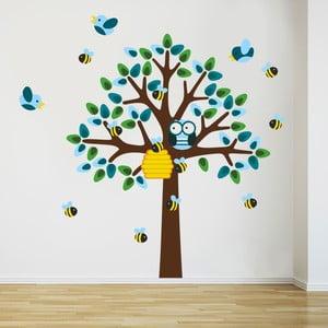 Naklejka Drzewo i osy, 70x50 cm